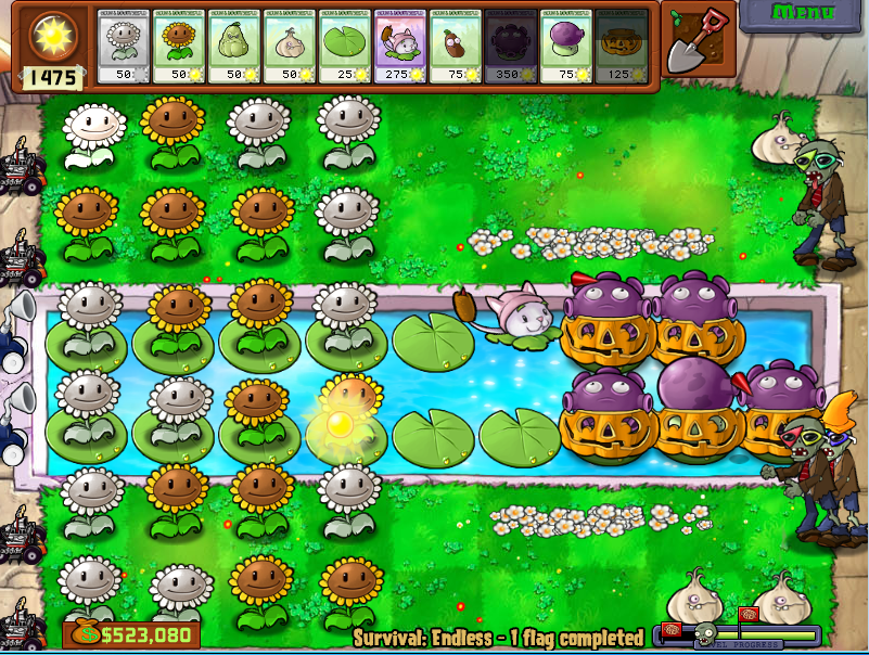 De la estrategia para Plants vs Zombies: endless | Scheiße Önkelnz